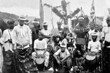 Old picture of an african tribe